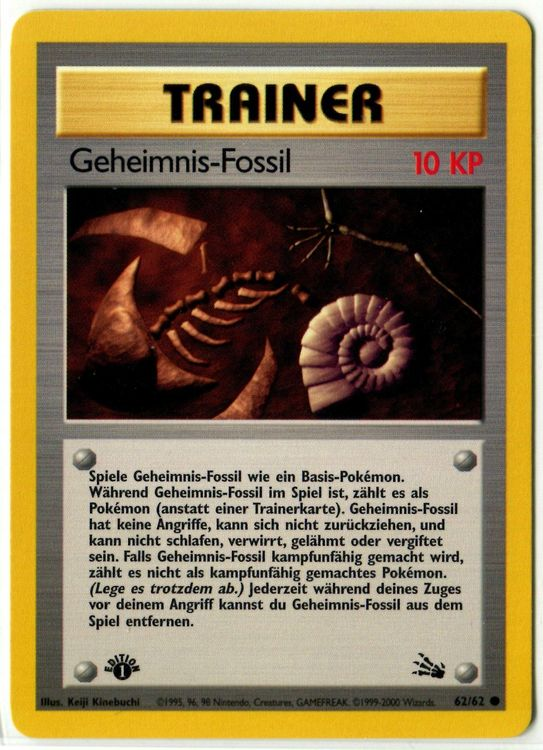 Geheimnis-Fossil Fossil 1.Edition 62/62 1