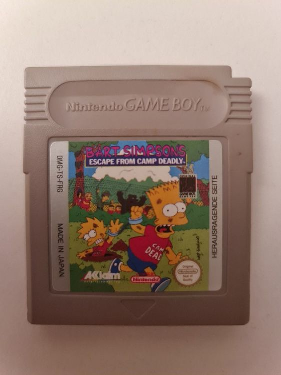 GameBoy - Bart Simpsons Escape from Camp 1