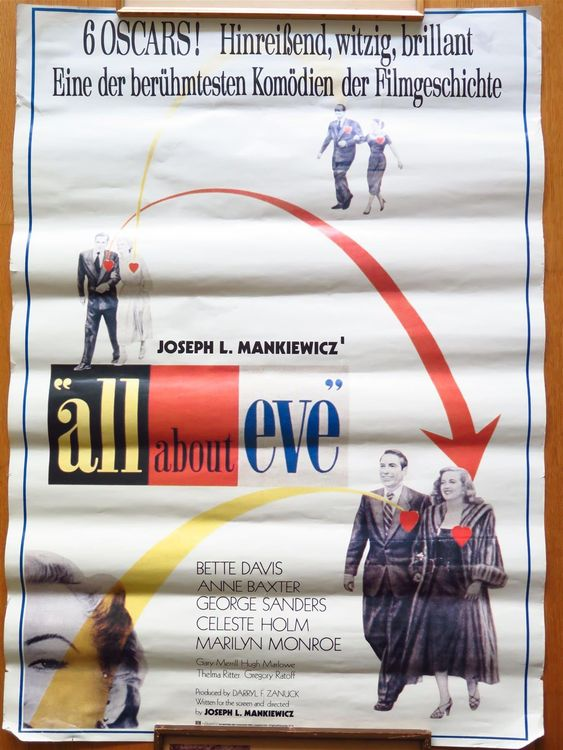 (p) FILMPLAKAT All about Eve (1950) 1