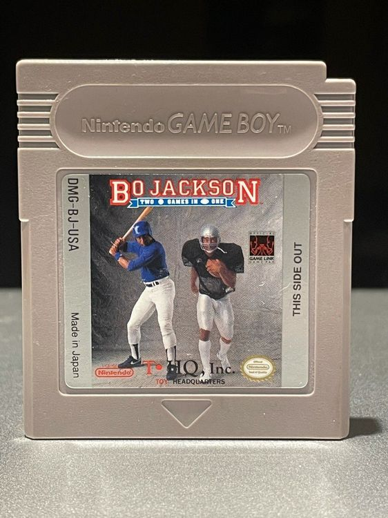 Gameboy Bo Jackson Two Games in One 1