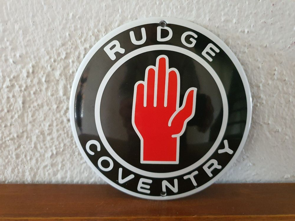 Emailschild RUDGE COVENTRY Logo, Emaille 1