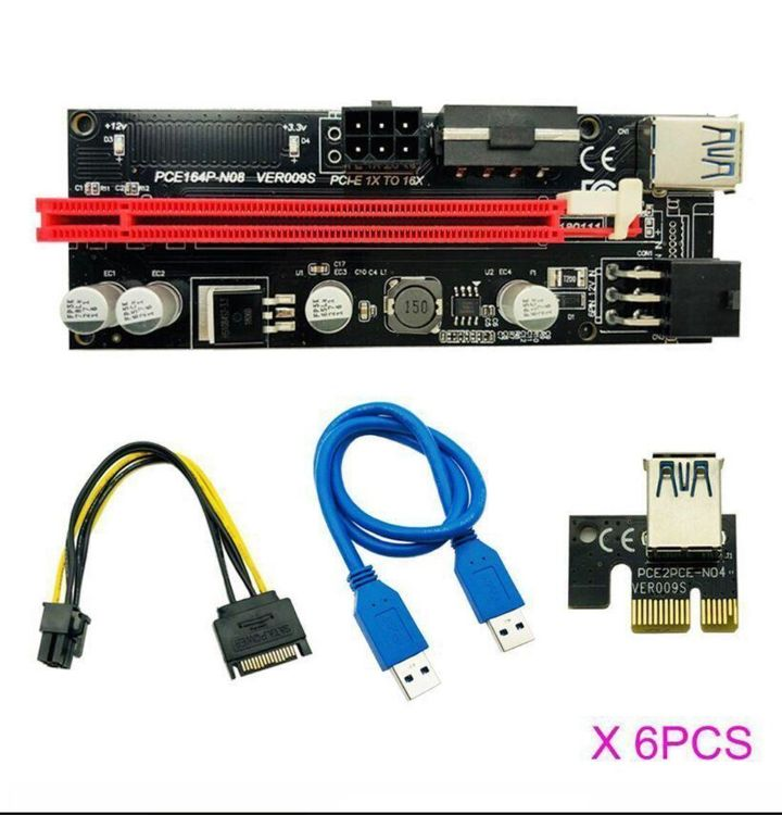 6 x PCIe Mining Card Adapter VER 009 1