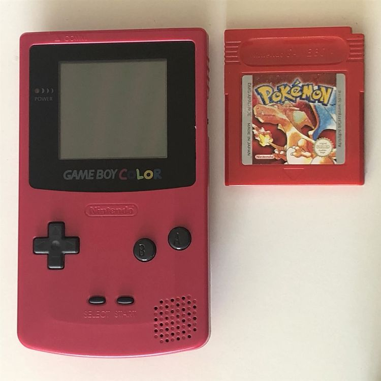 Gameboy Color Rot TOP + Pokemon rot 1