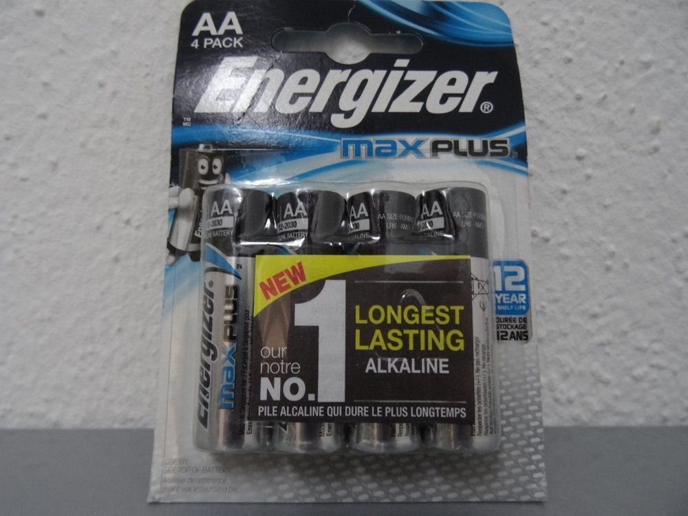 Energizer max plus AA, 4er Pack, 12-2030