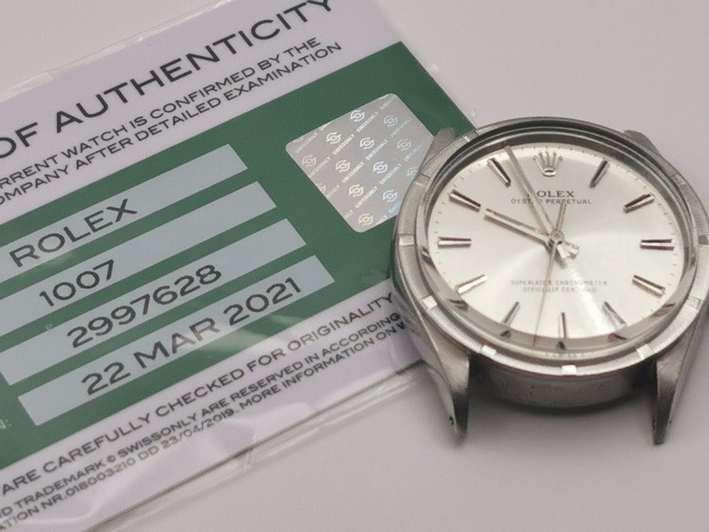 Rolex Oyster Perpetual, frisch  Revision 1