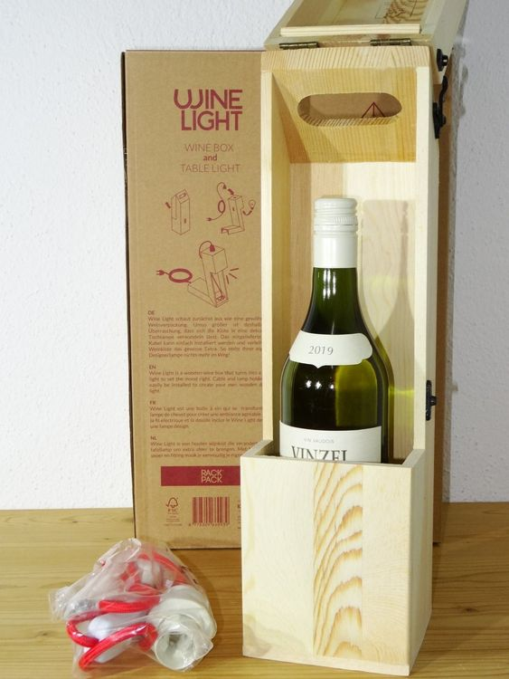 Restposten 2x Wine Light Weinbox &-licht