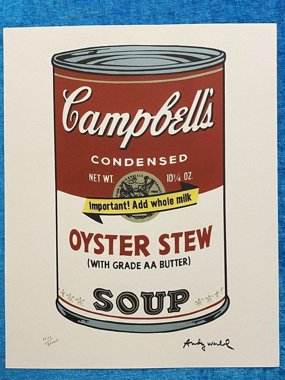 Andy Warhol «Campbell's Oyster tew Soup» 1