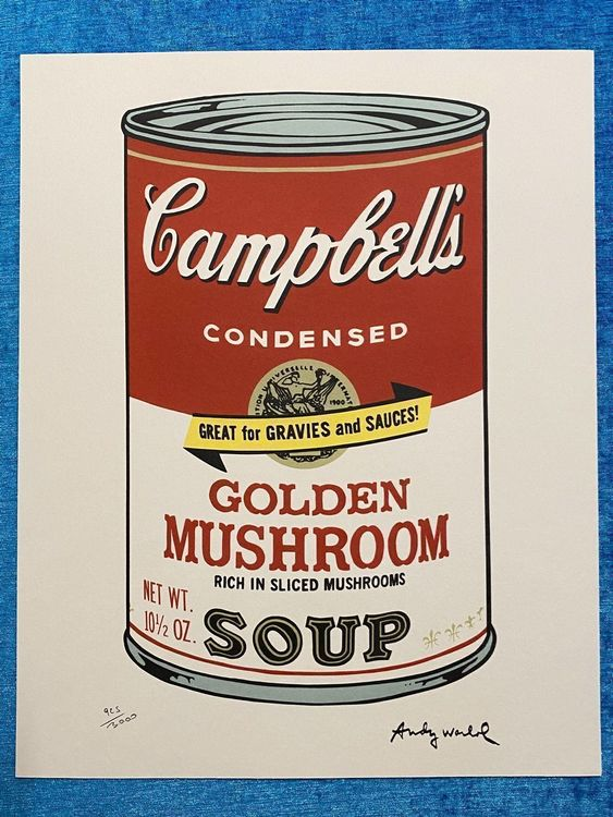 Andy Warhol «Campbell's Mushroom Soup» 1