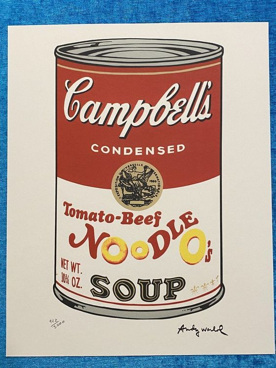 Andy Warhol «Campbell's Noodle Soup» 1