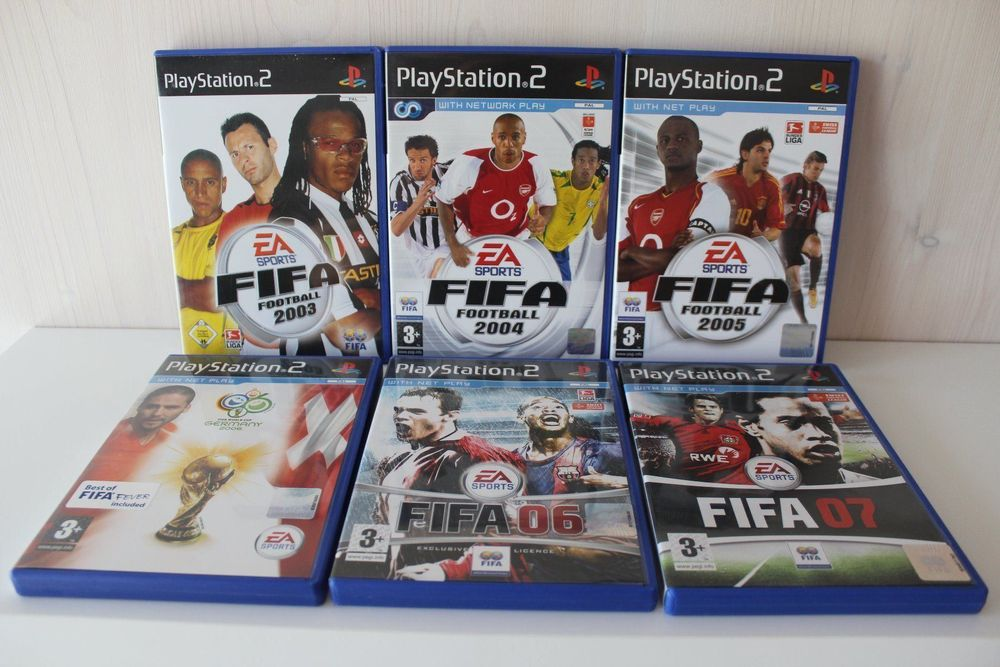 6x PS2 FIFA Spiele 2003; 2004; 2005; 07 1