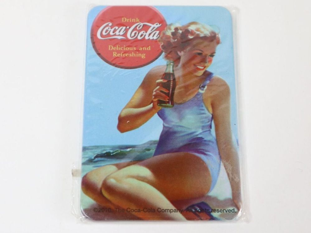Coca Cola Pin-Up Metall Magnet OVP 1