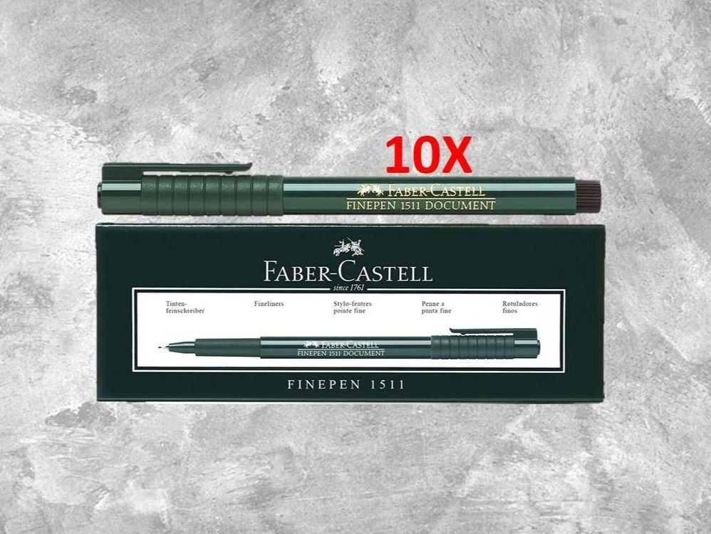 Faber-Castell Finepen 1511 rot 10 Stk. 1