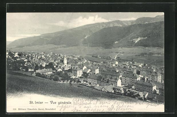 CPA St. Imier, Panorama, 1904 1