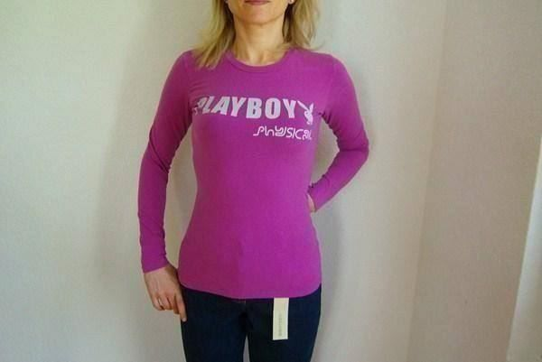 "Pullover""Playboy"" Gr.S 34/36 lila"