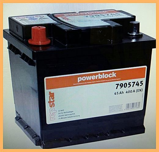 Autobatterie repstar 12V 45Ah 400A