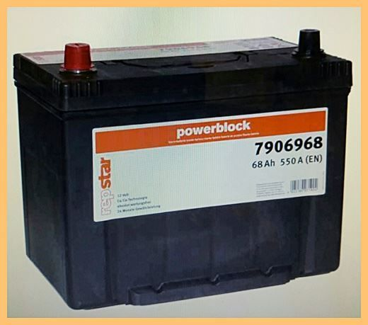 Autobatterie repstar 12V 68Ah 550A