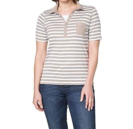 Lässiges Polo - Shirt in taupe - 36