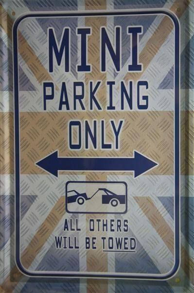 Blechschild-MINI PARKING ONLY-ALL OTHERS
