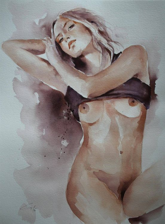 Aquarell Akt, Pin Up, Erotika