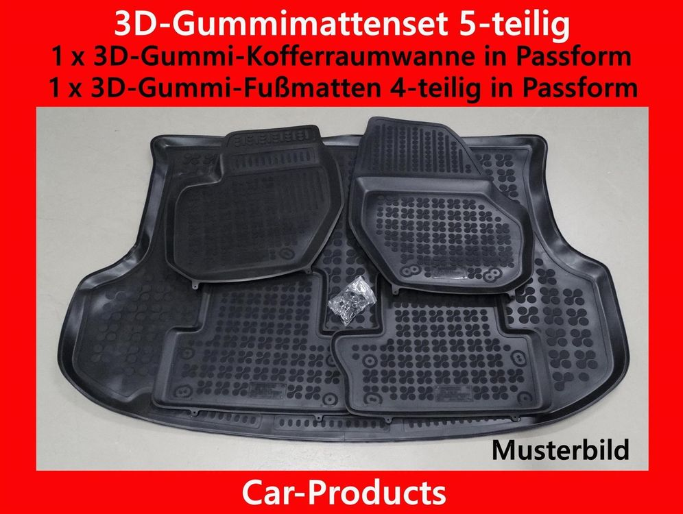 3D-Gummi-Set 5-teilig Skoda Rapid Spaceb