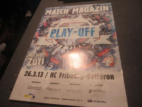 Match-Magazin 26.03.13/ZSC - HC Fribourg