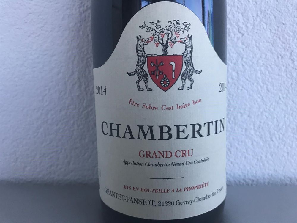 TOP 1X75 CHAMBERTIN 2014 GEANTET-PANSIOT