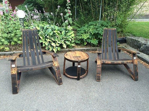 Bourbon Barrel Adirondack-Set