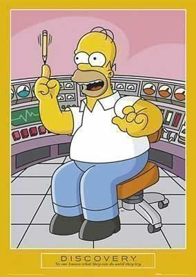 50 Motivation Discovery  Simpsons Poster