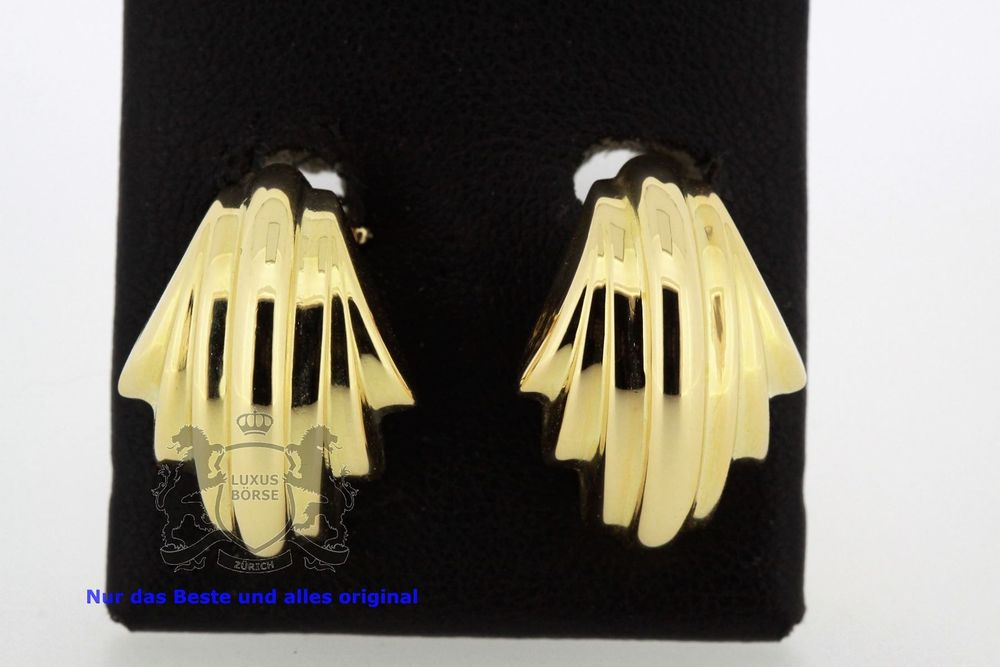Ohrclips 18K Gelb Gold ab Service *S1721
