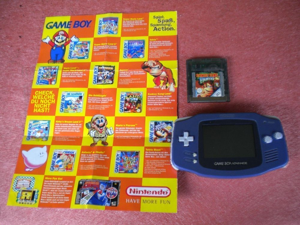 Gameboy mit Color Display + Donkey Kong