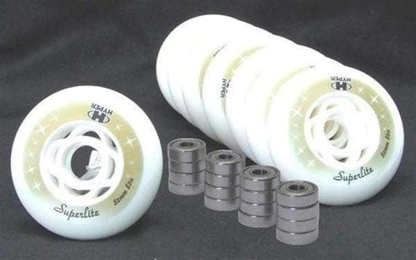 8 Rollen 82mm / 82A  + 16 Lager ABEC 7