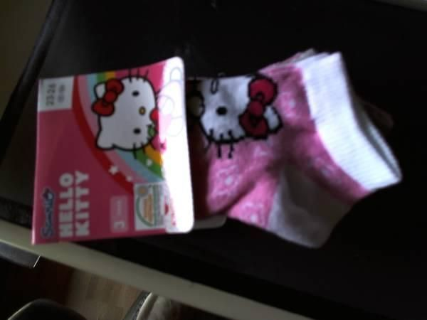 3 PAAR KINDER-SNEAKERSOCKEN HELLO KITTY