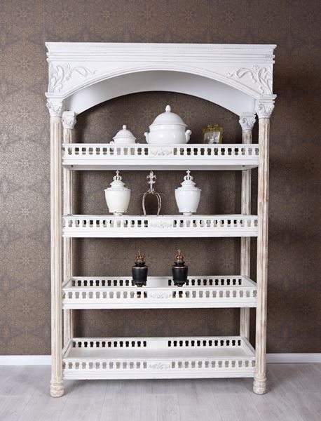 standregal shabby chic regal weiss kaufen auf. Black Bedroom Furniture Sets. Home Design Ideas