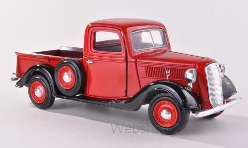 Ford Pick Up, rot/schwarz, 1937 1:24