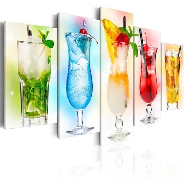 Wandbild  Rainbow drinks 100x50 cm
