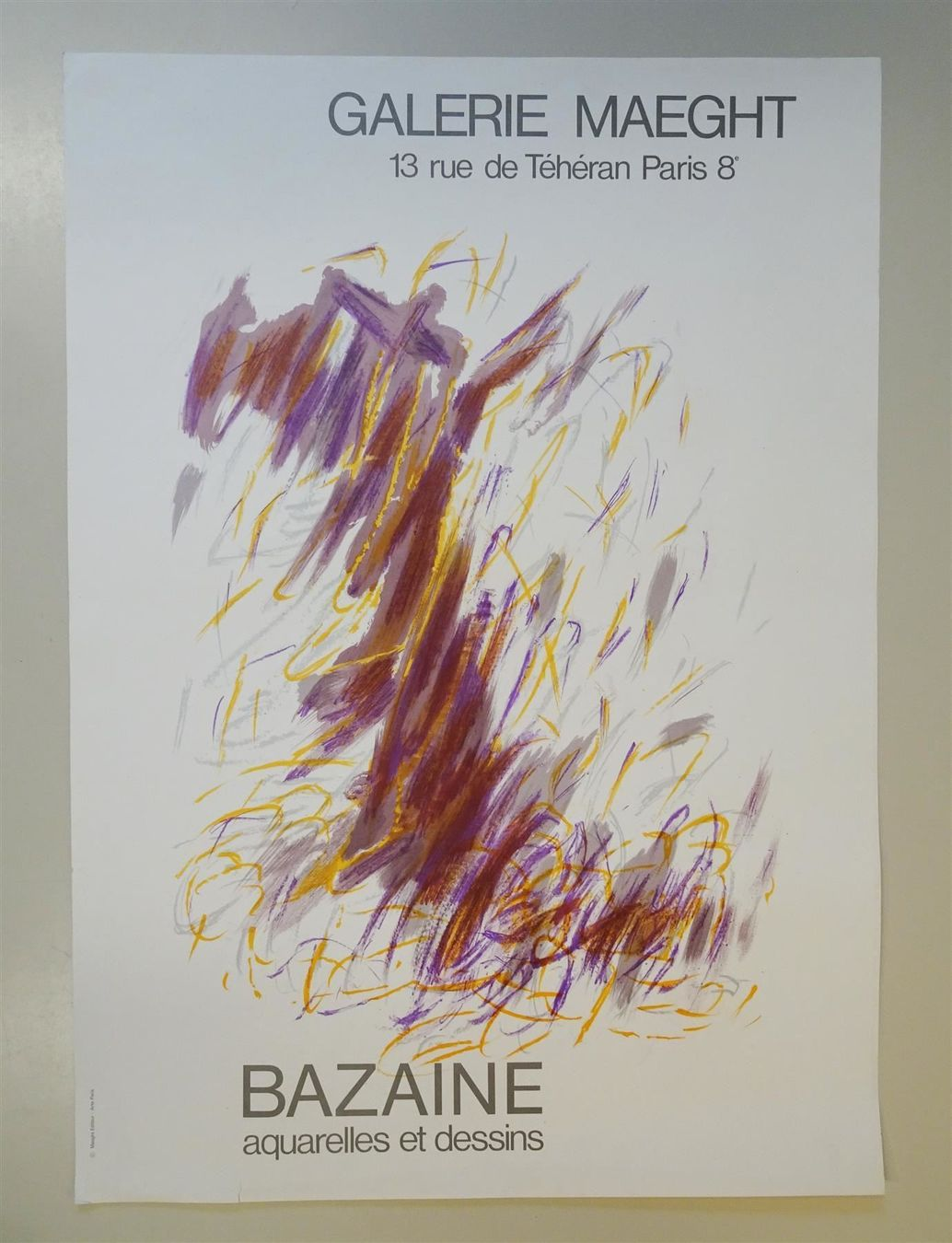Bazaine Galerie Maeght Lithographie 1968