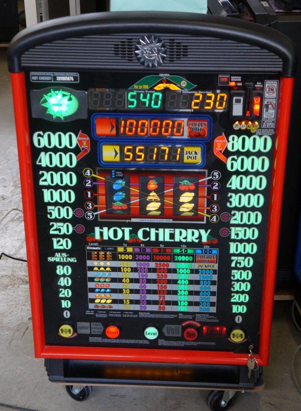 hot cherry spielautomat