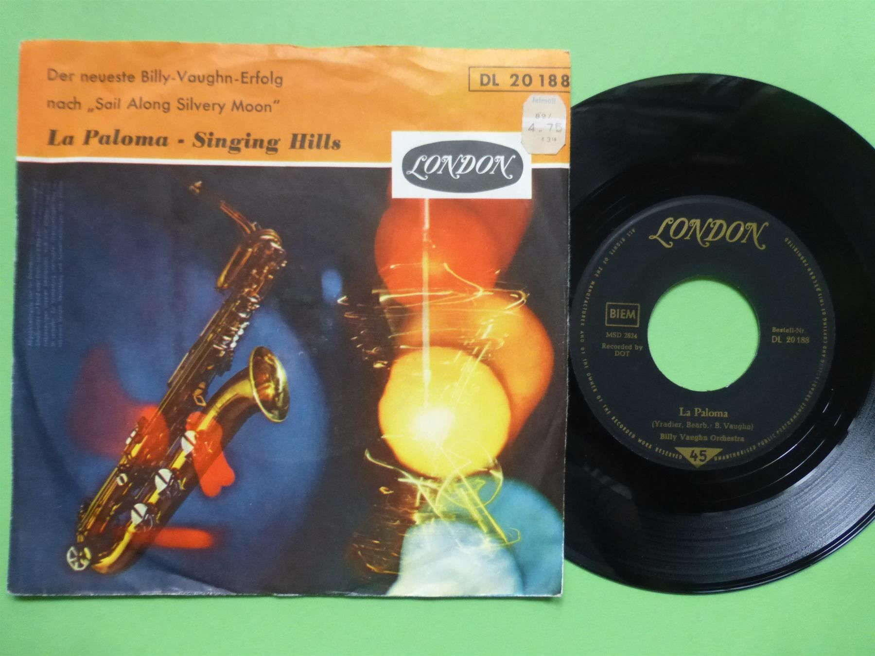 "BILLY VAUGHN 7"" LA PALOMA"