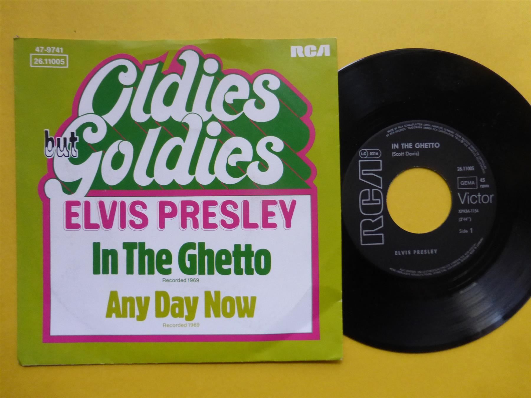 """ELVIS PRESLEY 7"""" IN THE GHETTO - ANY DAY"""