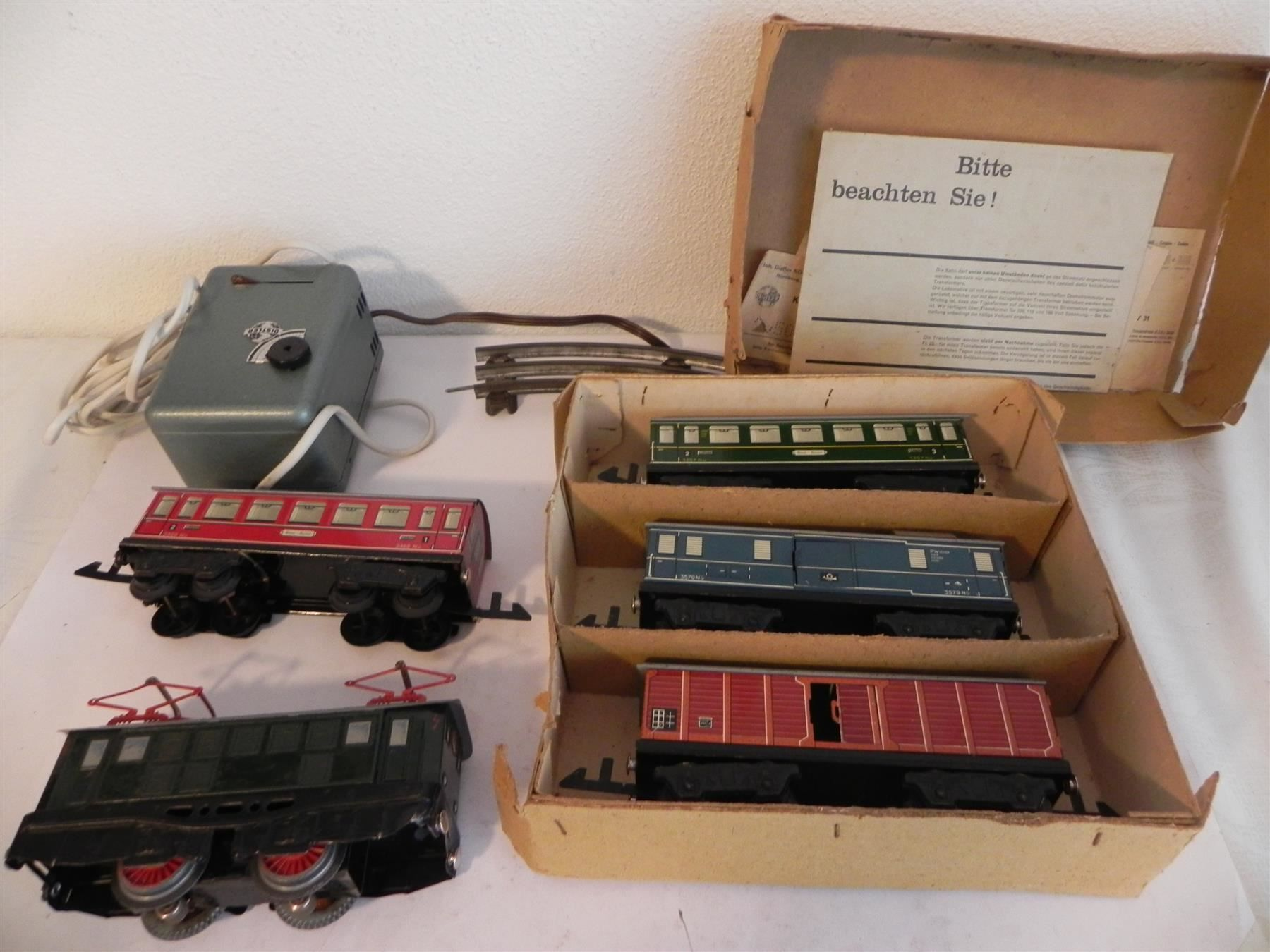 Distler Set, Lok, Wagen, Trafo RAR Spur0