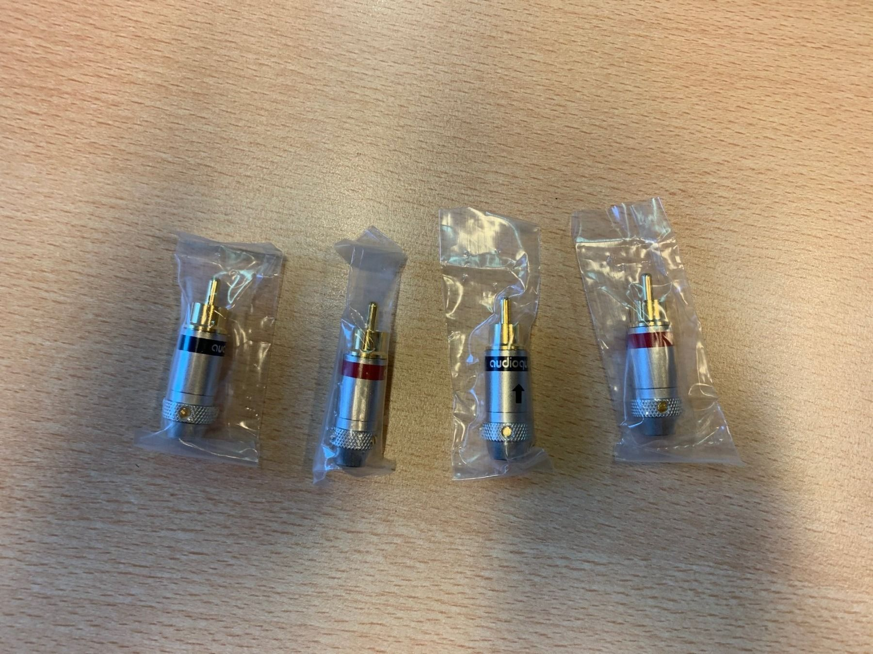 4x Audioquest Cinchstecker