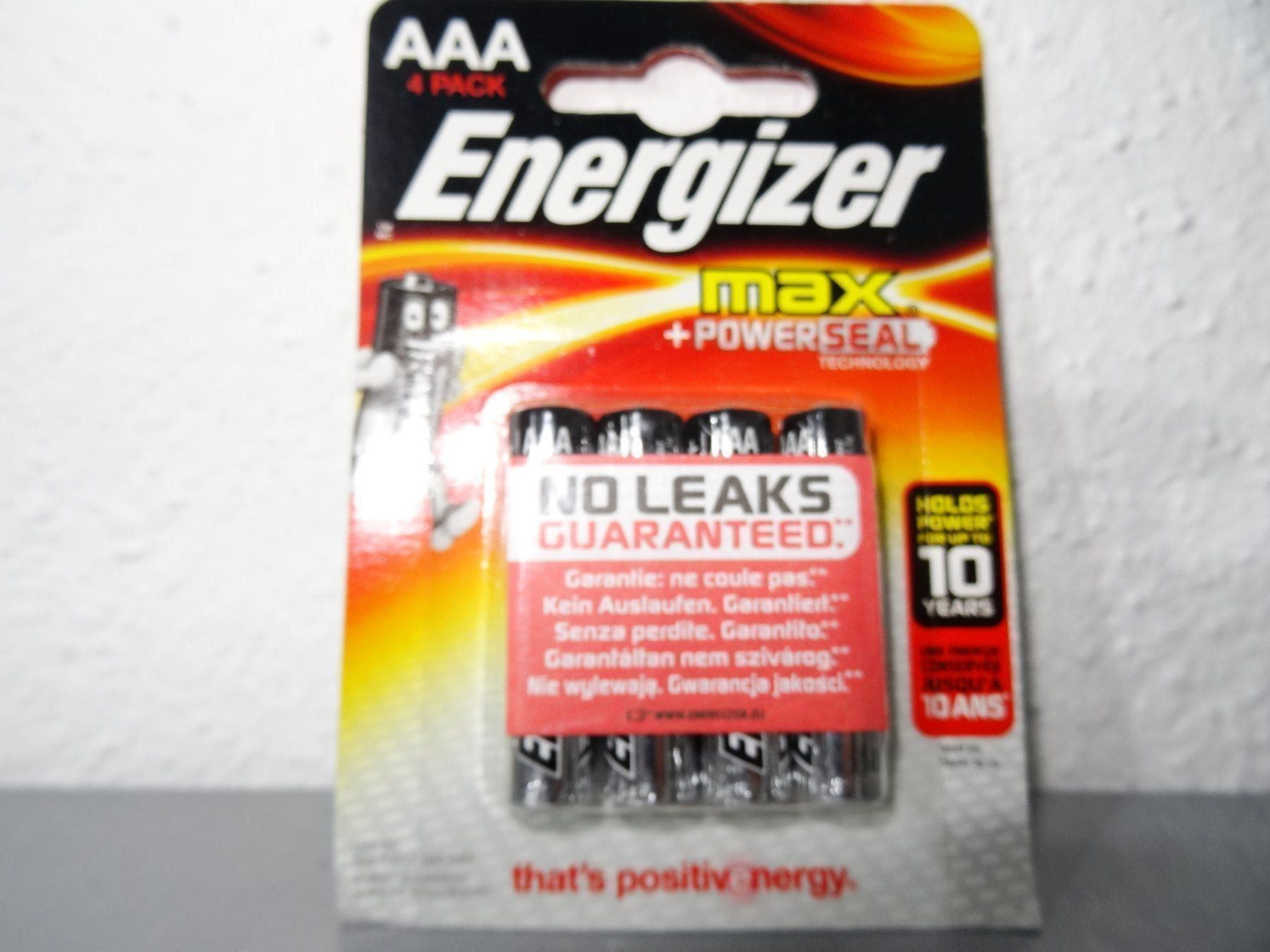 Energizer max AAA, 4er Pack, bis 12-2028