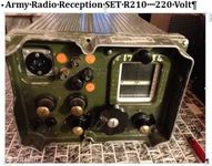 Army Reception SET R210 Radio Funk