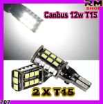 2 X Canbus 12w T15 LED 921 Light