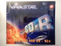 VIVASTAR CD-R, 2-12x, 700MB, 10er Pack