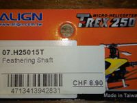 ALIGN T-REX 250     2x FEATHERING SHAFT