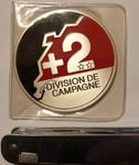 Medaille Division de campagne 2 Metall