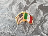 "USA - Mexiko Fahne ""Pin"""