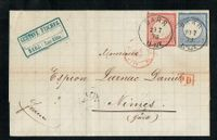 1873 Gr Brustschild 19 + 20 Brief BARR