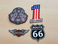 Patch  harley davidson,route 66 ,skull